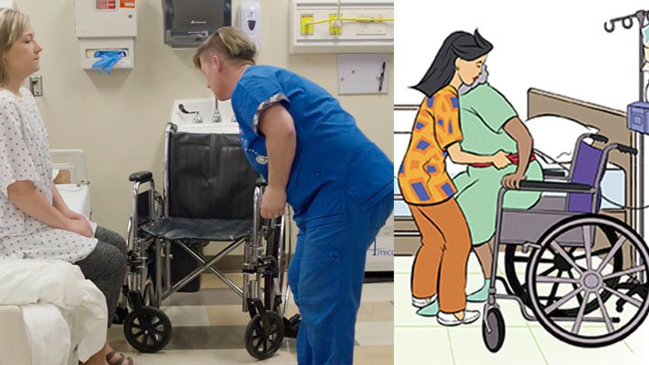How to shift the Patient from Bed to Wheelchair Using the Transfer Belt